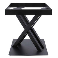 Elite Global Solutions 9 inch PC89 Rectangular Black Metal Stand for M10 Melamine Shelves
