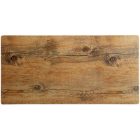 Elite Global Solutions M1020 Fo Bwa Rectangular Faux Driftwood Melamine Serving Board - 20 inch x 10 inch