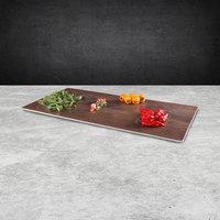 Elite Global Solutions M1020 Fo Bwa Rectangular Faux Walnut Melamine Serving Board - 20 inch x 10 inch