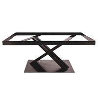 Elite Global Solutions 9 inch PC21179 Rectangular Brown Metal Stand for M2415 Melamine Shelves