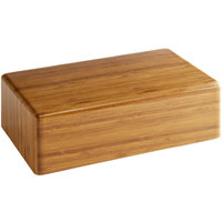Elite Global Solutions M1063 Fo Bwa Rectangular Faux Bamboo Melamine Modular Riser - 10 inch x 6 inch x 3 inch