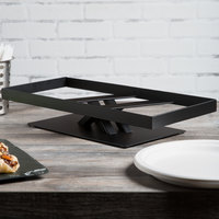 Elite Global Solutions 3 inch PC173 Rectangular Black Metal Stand for M1020 Melamine Shelves