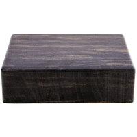Elite Global Solutions M1063 Fo Bwa Rectangular Faux Zebra Wood Melamine Modular Riser - 10 inch x 6 inch x 3 inch