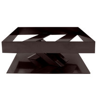 Elite Global Solutions 3 inch PC83 Rectangular Brown Metal Stand for M10 Melamine Shelves