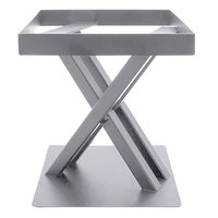 Elite Global Solutions 9 inch PC89 Rectangular Satin Nickel Metal Stand for M10 Melamine Shelves