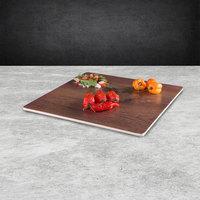 Elite Global Solutions M10 Fo Bwa Square Faux Walnut Melamine Serving Board - 10 inch x 10 inch