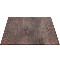 Elite Global Solutions M10 Fo Bwa Square Faux Walnut Melamine Serving Board - 10 inch x 10 inch x 5/8 inch
