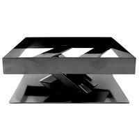 Elite Global Solutions 3 inch PC83 Rectangular Black Metal Stand for M10 Melamine Shelves