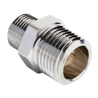 T&S 062A Brass Adapter with 1/2 inch NPT and 3/8 inch NPT Male Connections