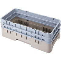 Cambro HBR578184 Beige Camrack Customizable Half Size Open Base Rack with 2 Extenders