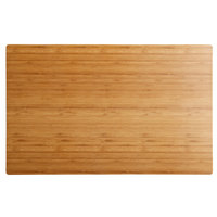 Elite Global Solutions M2415 Fo Bwa Rectangular Faux Bamboo Melamine Serving Board - 24 inch x 15 inch