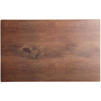 Elite Global Solutions M2415 Fo Bwa Rectangular Faux Walnut Melamine Serving Board - 24 inch x 15 inch