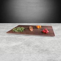 Elite Global Solutions M2415 Fo Bwa Rectangular Faux Walnut Melamine Serving Board - 24 inch x 15 inch