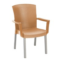 Grosfillex 45903008 / US903008 Havana Tobacco Classic Stacking Resin Armchair