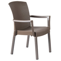 Grosfillex 45903037 / US903037 Havana Espresso Classic Stacking Resin Armchair