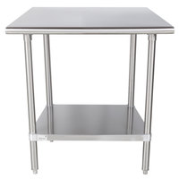 Advance Tabco MS-300 30 inch x 30 inch 16 Gauge Stainless Steel Commercial Work Table with Stainless Steel Undershelf