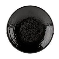 Elite Global Solutions D638RR Pebble Creek Black 6 3/8 inch Round Plate - 6/Case