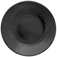 Elite Global Solutions D638RR Pebble Creek Black 6 3/8 inch Round Plate - 6/Case