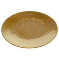 Elite Global Solutions D812RR Pebble Creek Tapenade-Colored 12 3/4 inch x 8 3/4 inch Oval Platter