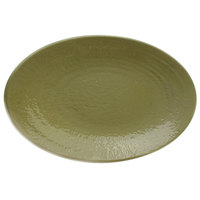 Elite Global Solutions D812RR Pebble Creek Lizard-Colored 12 3/4 inch x 8 3/4 inch Oval Platter