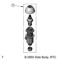 T&S 162A Hot Side Body Assembly for B-0850 Faucets