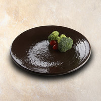 Elite Global Solutions D117RR Pebble Creek Aubergine-Colored 11 7/8 inch Round Plate - 6/Case