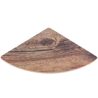 Elite Global Solutions M57QR Fo Bwa Quarter Circle Faux Driftwood Melamine Riser - 7 inch x 5 inch x 5/8 inch