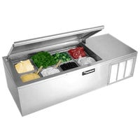 Delfield CTP 8146-NB 46 inch Countertop Refrigerated Prep Rail