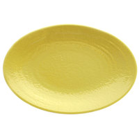 Elite Global Solutions D812RR Pebble Creek Olive Oil-Colored 12 3/4 inch x 8 3/4 inch Oval Platter