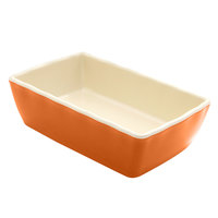 Elite Global Solutions M852 Country Kitchen Pumpkin 28 oz. Rectangular Melamine Baker