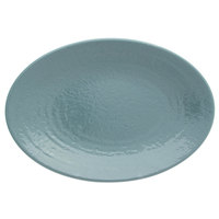 Elite Global Solutions D812RR Pebble creek Abyss-Colored 12 3/4 inch x 8 3/4 inch Oval Platter