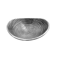 Elite Global Solutions ALS107 Savanna Spiral-Textured 10 3/8 inch x 7 1/4 inch Oval Dish