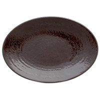 Elite Global Solutions D812RR Pebble Creek Aubergine-Colored 12 3/4 inch x 8 3/4 inch Oval Platter