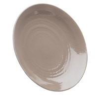 Elite Global Solutions D117RR Pebble Creek Mushroom-Colored 11 7/8 inch Round Plate