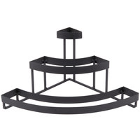 Elite Global Solutions 8 inch PC21168 Quarter Circle Black 3 Shelf Metal Stand for Faux Slate