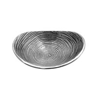 Elite Global Solutions ALS75 Savanna Spiral-Textured 7 1/2 inch x 5 1/2 inch Oval Dish
