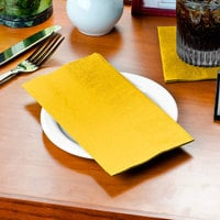 Sunny Yellow Paper Dinner Napkin, Choice 2-Ply Customizable, 15 inch x 17 inch - 1000/Case