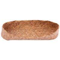 Elite Global Solutions CB155 15 3/4 inch x 5 inch Long Cork Basket / Bag