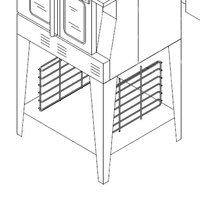 Garland 1951213-0001 Equipment Stand with Rack Guides and Shelf for MCO, MP, SUMG, and SCO Convection Ovens