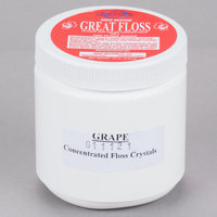 Great Western Great Floss 1 lb. Container Purple Grape Cotton Candy Concentrate Sugar   - 12/Case