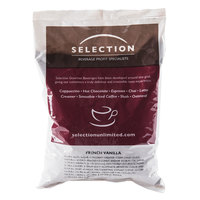 Sweet French Vanilla Cappuccino Mix 2 lb. Bags - 6/Case