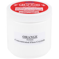 Great Western Great Floss 1 lb. Orange Cotton Candy Concentrate Sugar