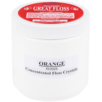 Great Western Great Floss 1 lb. Container Orange Cotton Candy Concentrate Sugar - 12/Case