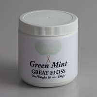 Great Western Great Floss 1 lb. Container Mint Green Cotton Candy Concentrate Sugar - 12/Case