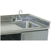 Advance Tabco TA-30 1 1/2 inch Stainless Steel Side Splash for Table Tops