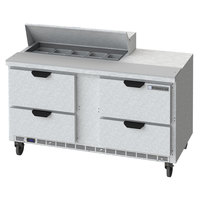 Beverage-Air SPED60HC-10-4 60 inch 4 Drawer Refrigerated Sandwich Prep Table