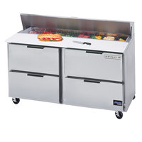 Beverage Air SPED60HC-10-4 60 inch 4 Drawer Refrigerated Sandwich Prep Table