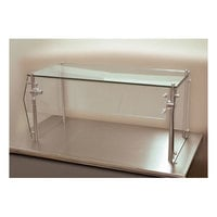 Advance Tabco Sleek Shield GSG-18-96 Single Tier Self Service Food Shield with Glass Top - 18 inch x 96 inch x 18 inch