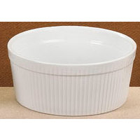 CAC SFB-64 White 2 Qt. China Fluted Souffle Bowl 12/Case