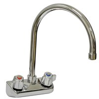 Advance Tabco K-60 12 inch Gooseneck Wall Mount Faucet with 4 inch Centers